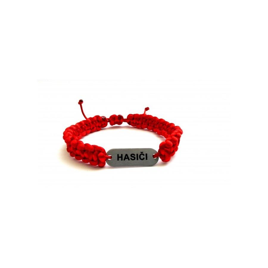 Náramok pletený červený HASIČI empty d1c6145a001